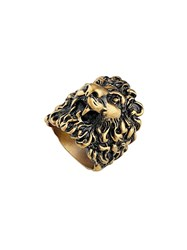 Gucci Ring With Lion Head Gold