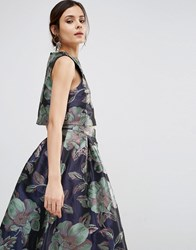 Asos Shell Top In Floral Jacquard Co Ord Multi