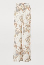 See By Chloe Printed Trousers Multicolor White 2