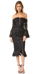 Nicholas Botanical Lace Cocktail Dress Black
