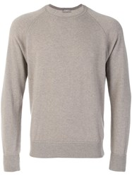 Barba Cashmere Knitted Sweater Men Cashmere 54 Grey