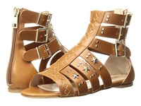 Just Cavalli Leather Star And Stud Sandal Caramel Women's Shoes Brown
