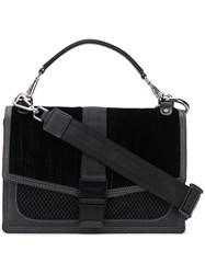 Diesel Velvet Panelled Cross Body Black