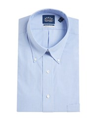Eagle Go Striped Cotton Shirt With Stretch Collar Periwinkle