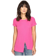 Kensie Slubby Rib Jersey Top Ks3k3578 Bright Fuchsia Women's Clothing Pink