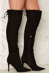 Verali Hayley Vegan Suede Boot Black