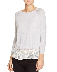 Suncoo Precious Layered Look Sweater Gris Chine