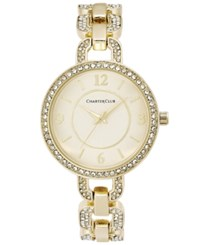 Charter Club Crystal Gold Tone Bracelet Watch 33Mm Only At Macy's