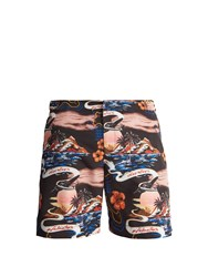 Stella Mccartney Island Print Swim Shorts Black Multi