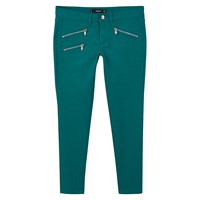 Mango Skinny Zip Trousers Green