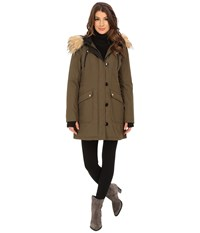 Jessica Simpson Polybonded With Faux Fur Loden Women's Clothing Green