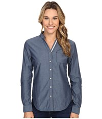 Black Diamond Chambray Modernist Shirt Captain Women's Long Sleeve Button Up Blue