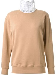 Cityshop Lace Turtle Neck Sweater Brown