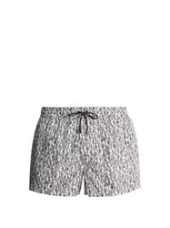 Dolce And Gabbana Floral Heart Print Swim Shorts White