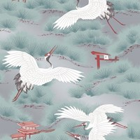 Tempaper Asian Toile Removable Wallpaper Sample Swatch