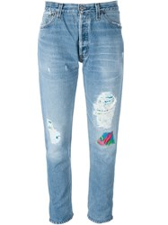 Levi's 'Hawaiian Patch' Jeans Blue
