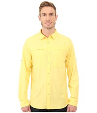 The North Face Long Sleeve Traverse Shirt Goldfinch Yellow Heather Prior Season Clothing