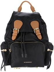 Burberry Buckled Backpack Black