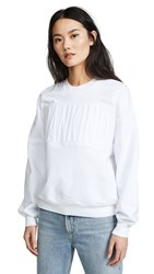7 For All Mankind Embossed Sweatshirt White White