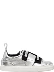 Paco Rabanne Velcro Sneakers Silver
