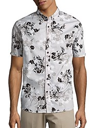 Howe Copia Floral Print Cotton Sportshirt Night Shade