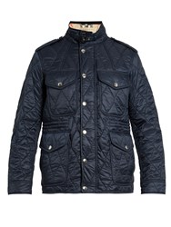 Burberry Quilted Field Jacket Navy