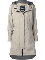 Herno Hooded Raincoat Neutrals