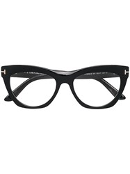 Tom Ford Eyewear Cat Eye Frame Glasses Black