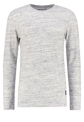 Tom Tailor Denim Basic Fit Long Sleeved Top Melange Light Grey