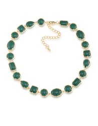 1St And Gorgeous Cabochon Ston Collar Necklace Green