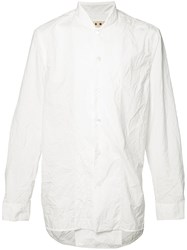 Marni Mandarin Concealed Placket Shirt White