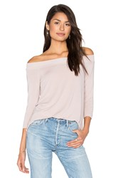 Michael Stars Off Shoulder Tee Pink