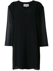 Gianfranco Ferre Vintage Sheer Panel Dress Black