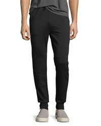 Eleven Paris Fleece Zip Pocket Jogger Pants Black