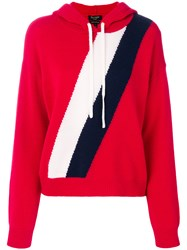 Juicy Couture Striped Hoodie Red