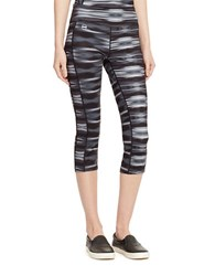 Lauren Ralph Lauren Graphic Print Cropped Leggings Black Multi