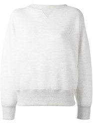 Sacai Lace Up Boat Neck Sweatshirt White