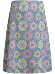 Seasalt Reversible Portfolio Skirt Etched Flower Multi