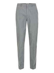 Topman Light Grey Check Skinny Fit Suit Trousers