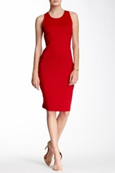 Dex Sleeveless Dress With Open Back Detail Red