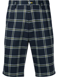 Guild Prime Nautical Checked Shorts Blue