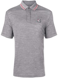 Z Zegna Concealed Front Polo Shirt Grey