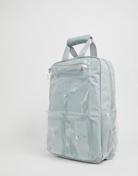 7X Svnx Grey Backpack With Clear Plastic Pockets
