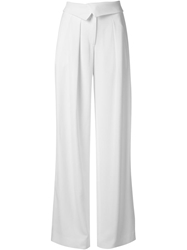 Jason Wu Crepe Wide Leg Trousers White