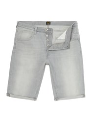 Lee Regular Fit Denim Short Light Grey