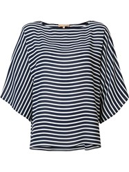 Michael Kors Striped Blouse Blue