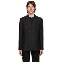 Our Legacy Black Unconstructed Double Breasted Blazer