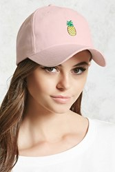 Forever 21 Pineapple Graphic Dad Cap Pink Multi