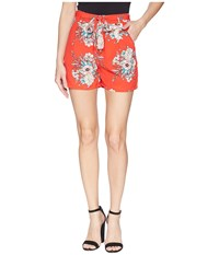 Bishop Young Wild Heart Shorts Wild Heart Print Red