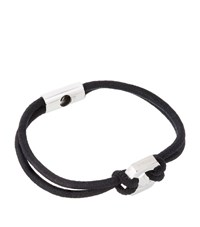 Tateossian Nut And Bolt Stretch Bracelet Unisex Black